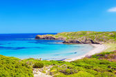 Platja del Tortuga beach in sunny day at Menorca — 图库照片