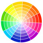 Standard color wheel isolated on white background vector illustr — Stock Vector #36039773