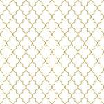 Seamless golden oriental window grille vector pattern. — Stock Vector #36039855