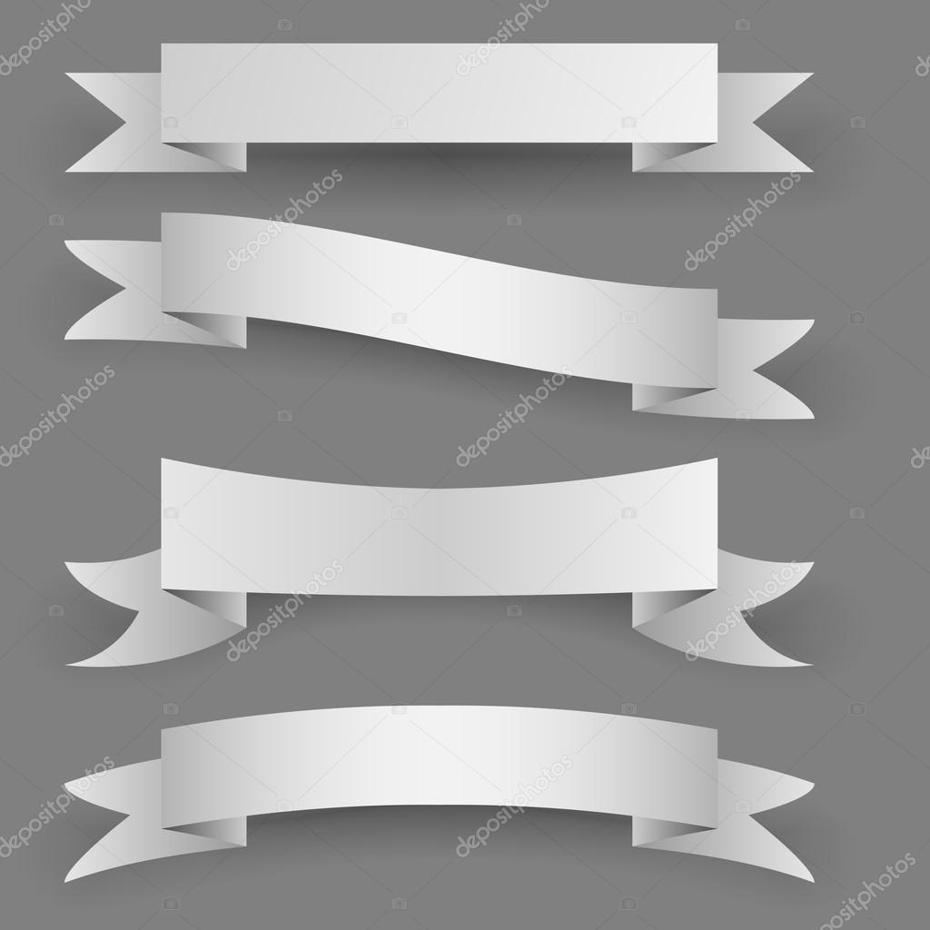Paper Banner Template. banner template category page 1. vector set ...