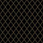 Seamless golden oriental window grille — Stock Vector #36493159