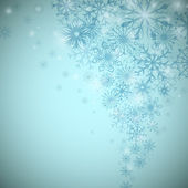Christmas snowflake flow vector background with copy space. — Stock Vector