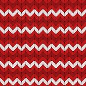бесшовные белые и красные вязаные векторный шаблон. — Cтоковый вектор