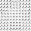 Seamless white notched diamond shapes vector pattern. — Stock Vector