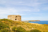 Torre den Penjat uncared fort scenery at Menorca, Spain — Stock Photo