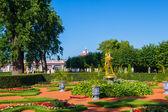 Peterhof palace lower park lawn, Saint-Petersburg, Russia. — Stock Photo