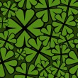 Seamless St. Patricks Day shamrock leaf pattern. — Cтоковый вектор #45848641