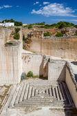 Des hostal quarry tiny maze in sunny day, Menorca, Spain. — Stock Photo