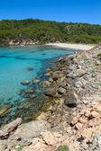 Platja des Bot beach at Algaiarens cove in sunny day — Stock Photo