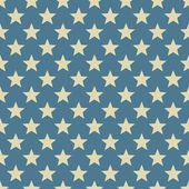 Vintage white and blue star vector pattern. — Stock Vector