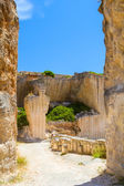 Old Des'hostal quarry entrance in sunny day at Menorca island, — Stock Photo