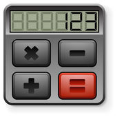 Abstract calculator icon isolated on white background. — Stock Vector