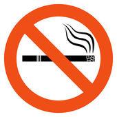 No smoking vector sign — Stock Vector