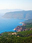 Rhodes coastline in sunny day, Greece. — Stock Photo
