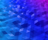 Abstract triangular blue and magenta polygon background. — Stock Photo