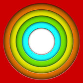 Abstract colorful 3D circles vector background — Vecteur