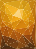 Sunset color triangular patchwork abstract vector background. — Vecteur