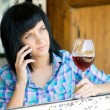 The young girl with a wine glass — Stock Photo #33170561