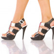 Women legs with shoes - Stock Photo