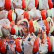 Shashlik kebabs — Stock Photo