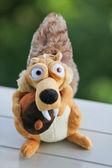 Plush toy squirrel — Stock Photo