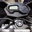 Stock Photo: Motorcycle handlebar controls