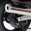 Motorcycle exhaust pipes - Stock Photo