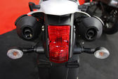 Motorcycle tail light closeup — Stock Photo