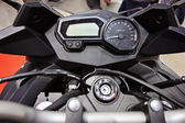 Motorcycle handlebar controls — Stock Photo