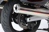 Motorcycle exhaust pipes — 图库照片