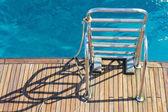 Stairs yacht — Stock Photo