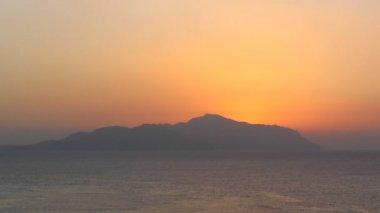 Sunset at sea — Stock Video