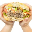 Stock Photo: Burger in hands
