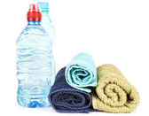Towels and water — Stockfoto