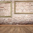 Stock Photo: Old wood brown room interior