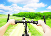Riding on country road — Stock Photo