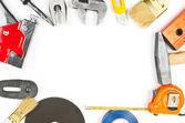 Many hand work tools — Foto Stock