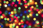 Abstract christmas bokeh lights — Stock Photo