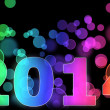 New year 2014 in black background — Stock Photo
