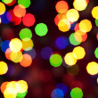 Abstract christmas bokeh lights — Stock Photo