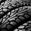 Tires stack background — Stock Photo