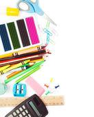 学校の文房具 — ストック写真