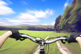 Ride on bicycle — Stock Photo