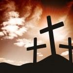 Silhouette of three Crosses — Stock Photo #49269187