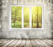 Okno v pokoji — Stock fotografie