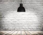 White grunge brick wall — Stock Photo
