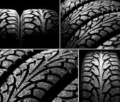 Winter car tyres — Stock Photo