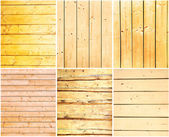 Set of wooden backgrounds — Stock Photo