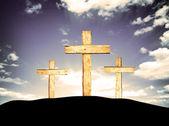 Wooden Crosses — Stock Photo