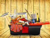 Toolbox with instruments — Stock Photo